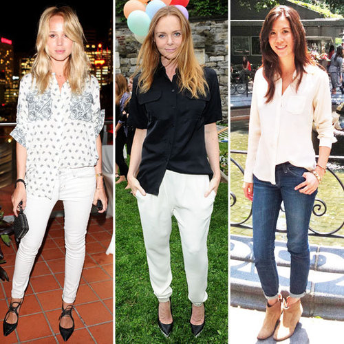 Elin Kling and Stella McCartney Are Into the Half Tucked Shirt: Are You?