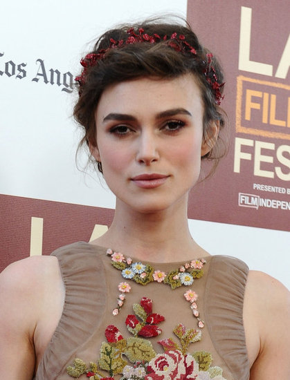 Even with the pretty floral applique on the neckline, we don't tire of Keira's flowered accents. The effect was entirely lovely.