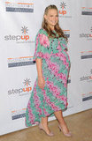 Just days before delivering baby Brooks, Molly wore an asymmetrical floral dress for the StepUp Women's Network's ninth annual Inspiration Awards.