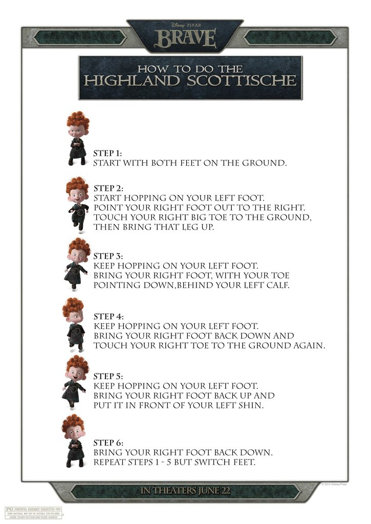 Dance the Highland Schottische (free printable)