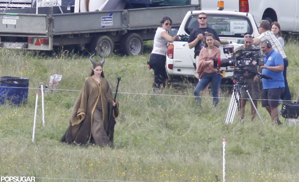 Angelina Jolie shot Maleficent in the UK.