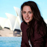 Kristen Stewart enjoyed the scenic view during a photo shoot for Snow White and the Huntsman in Sydney.