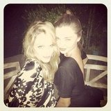Miranda Kerr posed with friend Monet Mazur. Source: Instagram user mirandakerrverified