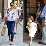 Katie Holmes Pictures in NYC With Suri Cruise