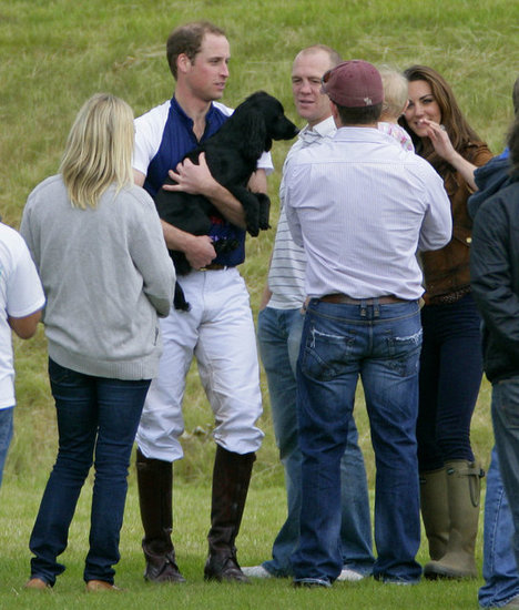 Prince William was shot showing love for his best friend Lupo at a polo match in England in June 2012.