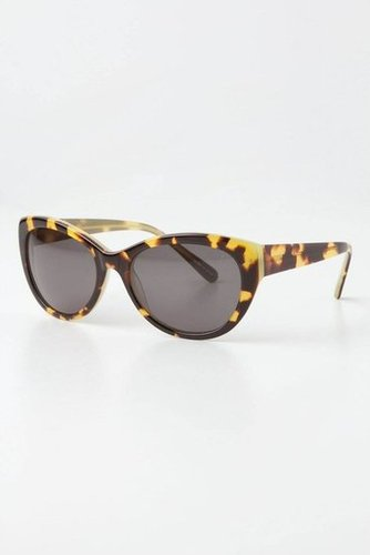The perfect cat-eye shape to glam up your by-the-beach gear.  Anthropologie Overheard Shades ($38)