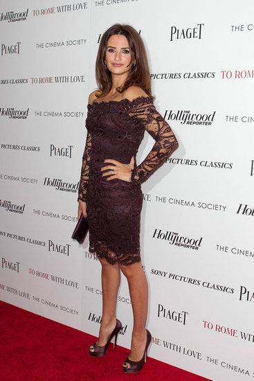 Penelope Cruz attended a screening of To Rome With Love at the Paris Theatre.