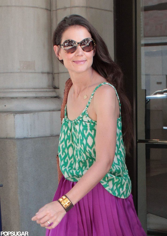 Katie Holmes smiled while out and about in NYC.