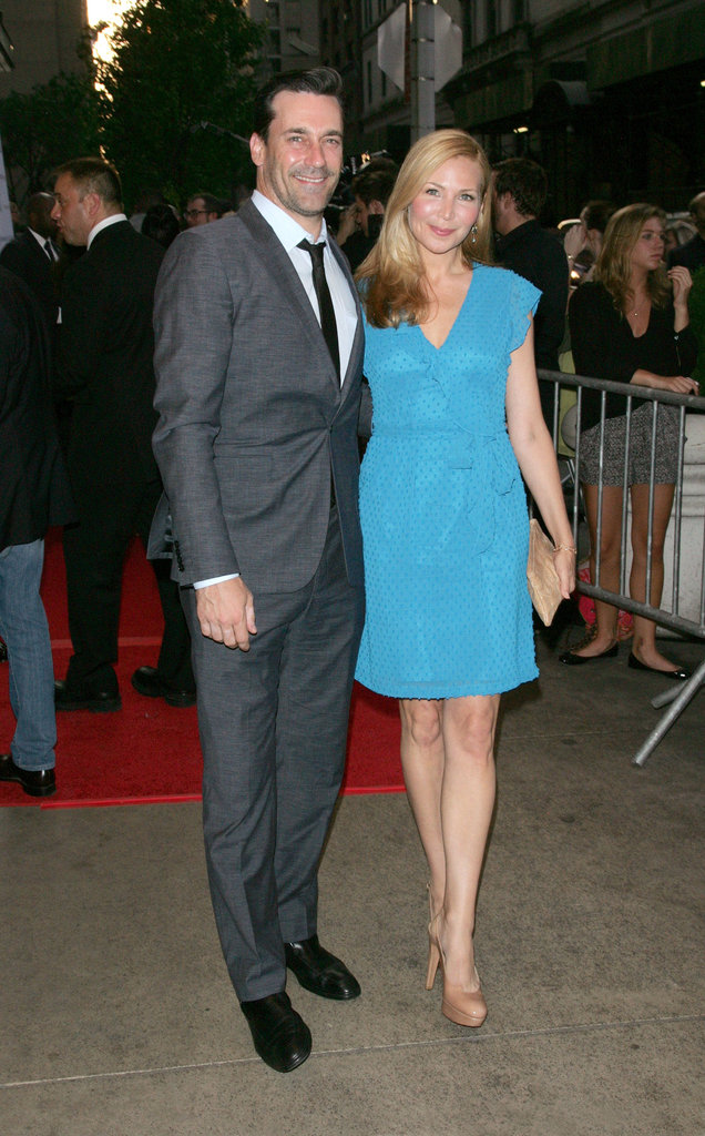Jon Hamm and Jennifer Westfeldt attended a Woody Allen premiere.