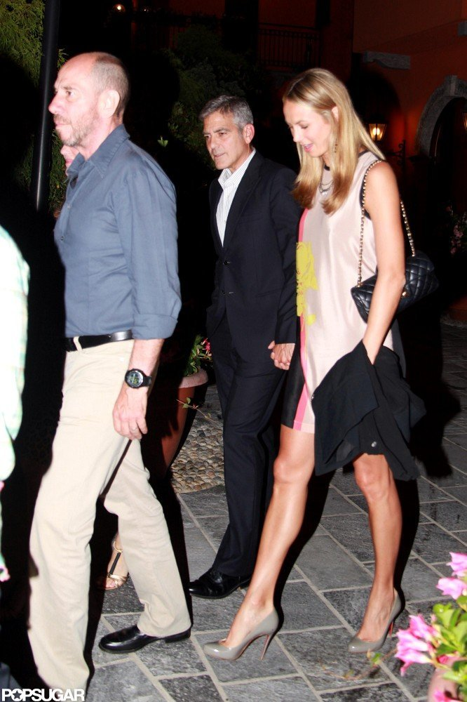 Stacy Keibler and George Clooney wrapped up a date.