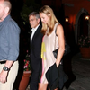 George Clooney and Stacy Keibler Pictures Lake Como Dinner