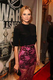 Diane Kruger looked stunning in a black and hot pink ensemble.