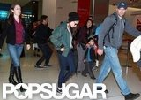 Kristen Stewart traveled through Sydney's airport.
