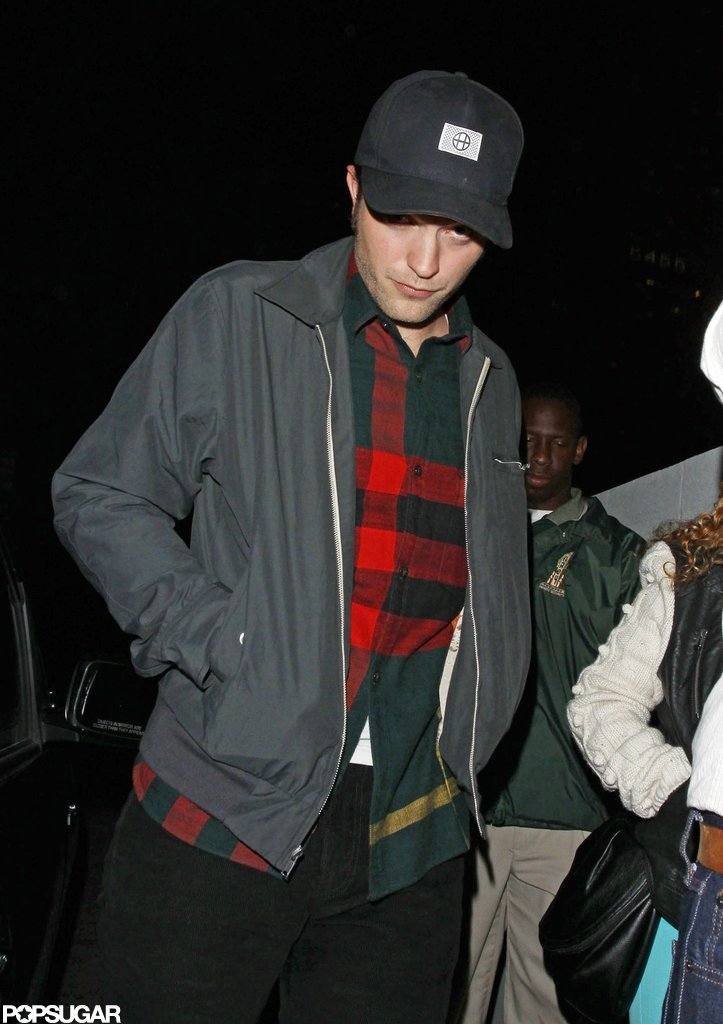 Robert Pattinson walked out of a bar in LA.