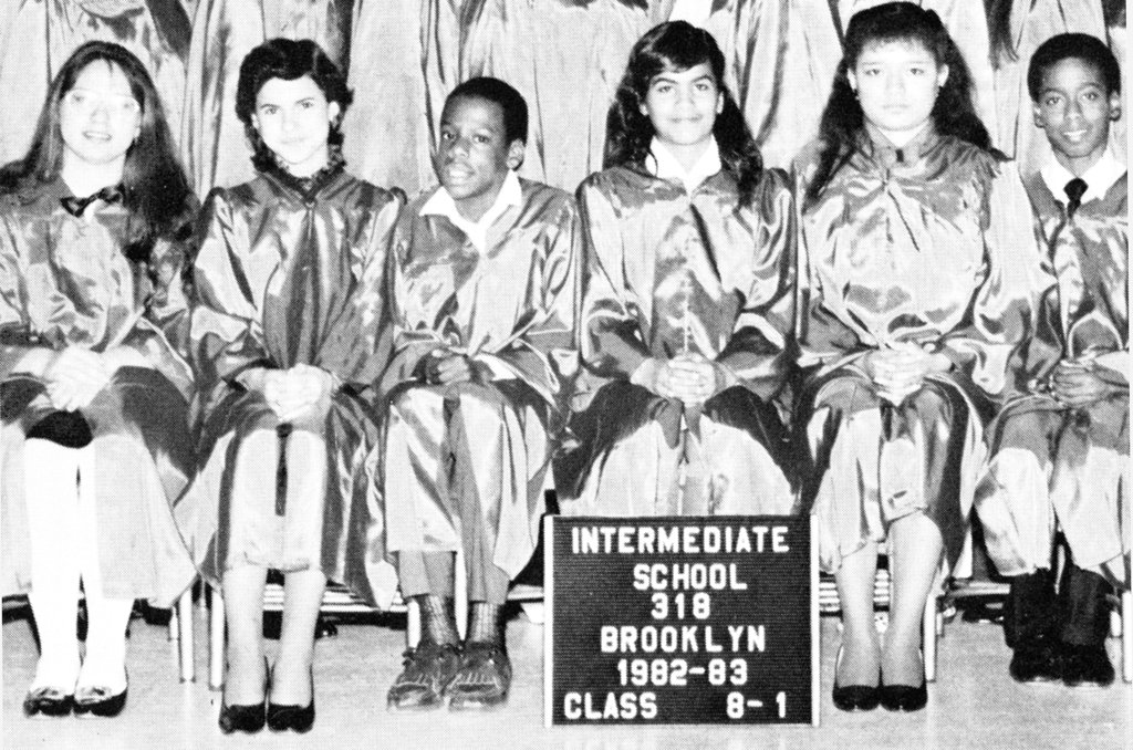 Jay-Z, third from the left, posed for his class photo.