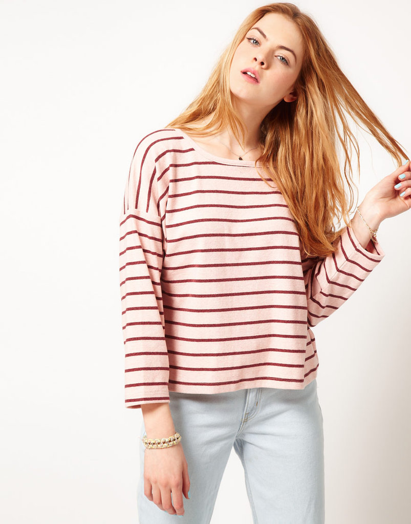 Whether you're BBQ- or beach-bound, this will be the sweatshirt you reach for again and again when the evening chill sets in. We love the boxy shape and the stripes that feel effortlessly seasonal.  Dansk Stripe Oversized Square Sweatshirt ($96)