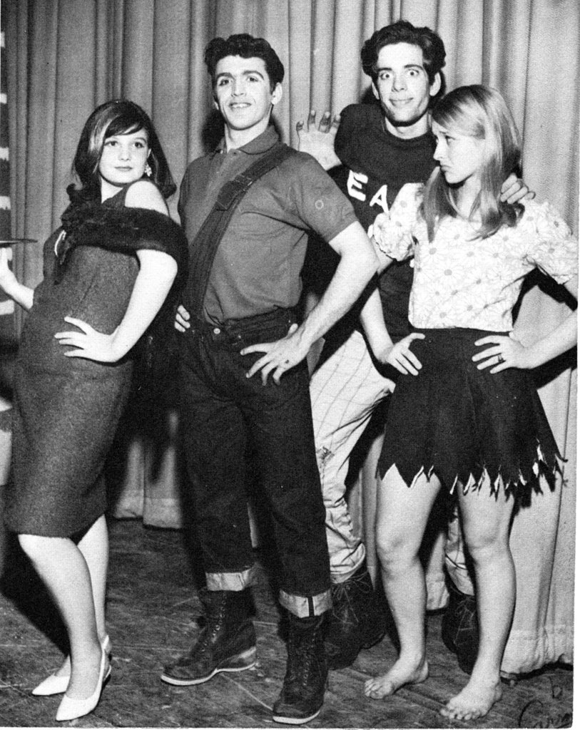 Meryl goofed off with her drama friends. Source: Seth Poppel/Yearbook Library