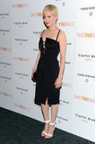 Michelle Williams wore a black Altuzarra to a premiere in NYC.