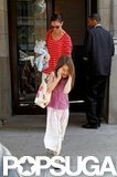 Katie Holmes headed out with Suri Cruise for the morning.