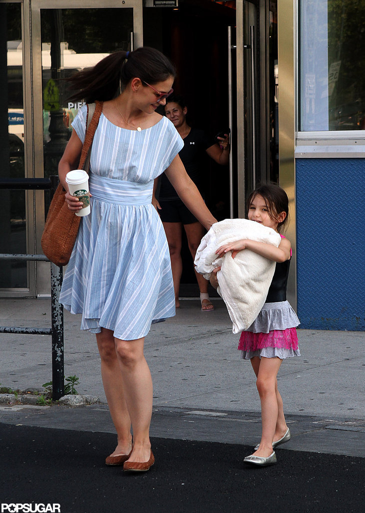 Katie Holmes picked up Suri Cruise from Chelsea Piers in NYC.