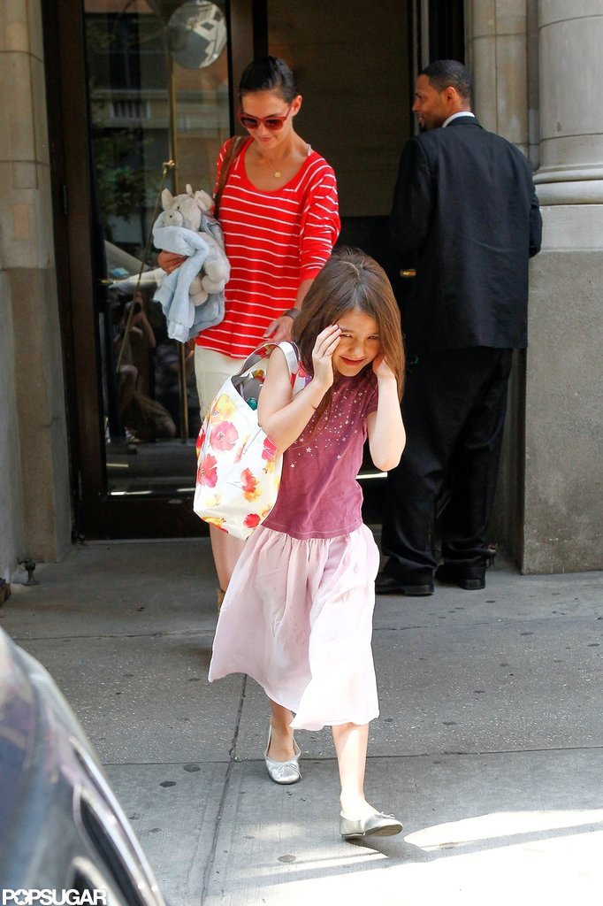 Katie Holmes headed out with Suri Cruise.