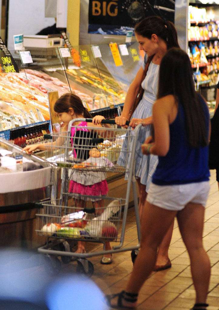 Katie Holmes and Suri Cruise shopped together at Whole Foods in NYC.