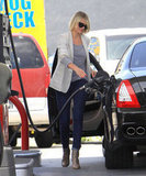 Cameron Diaz stopped for gas in LA.