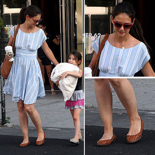 Katie Holmes Striped Dress
