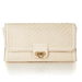 You can carry this chic woven clutch to carry to all your Summer weddings, cocktail parties, and more.