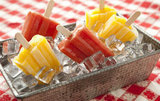Peach-Mango Popsicles