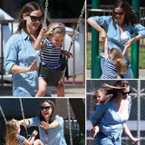 Jennifer Garner and Seraphina Get Playful at the Park