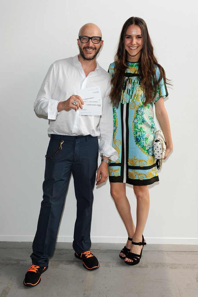 Saturnino Celani and Vanna Quattrini at the Costume National Homme Spring 2013 Show in Milan.