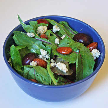 Cherry, Smoked Blue Cheese, and Almond Salad