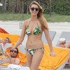 Whitney Port Green and Yellow Miami Bikini 2012