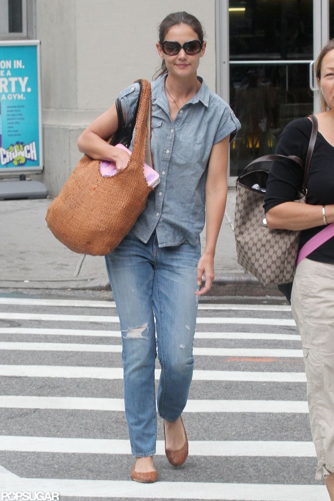Katie Holmes was spotted in NYC looking cute and casual.