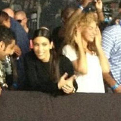 Kim Kardashian and Beyonce Together at Watch the Throne Concert Video Footage