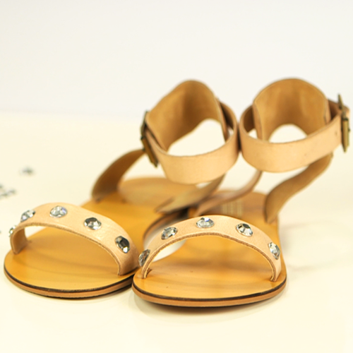 DIY: Give Your Sandals a Little Sparkle With Rhinestones