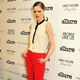 Coco Rocha Red Wide-Leg Pants