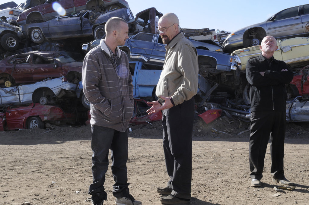 Bryan Cranston, Jonathan Banks, and Aaron Paul on Breaking Bad. Photo courtesy of AMC