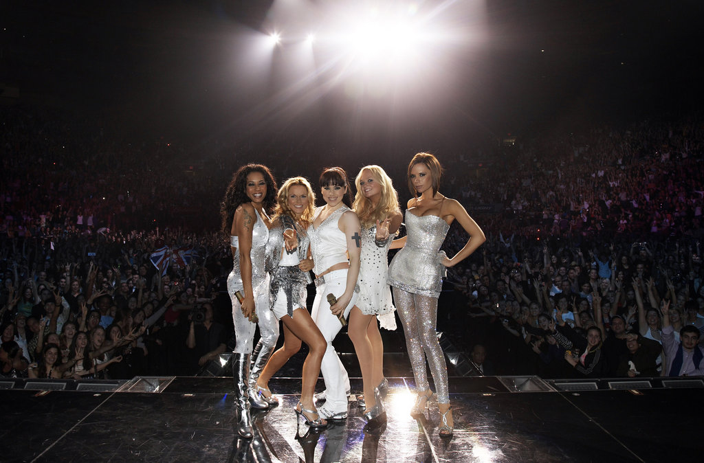 Dressed in silver, the group entertained a sold-out audience at NYC's Madison Square Garden in February 2008.