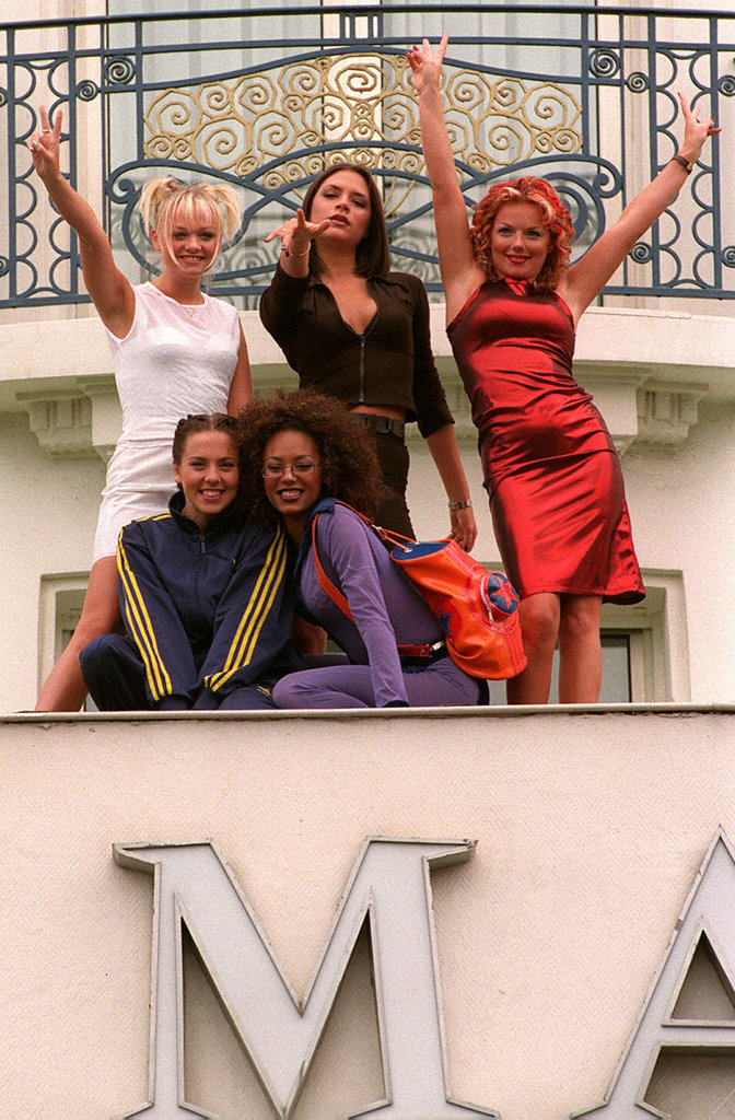 The Spice Girls posed for photographers in Cannes, France, in May 1997.