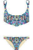 """Mara Hoffman has perfected the art of bohemian-chic prints, and this bold bikini has """"cool girl"""" written all over it. Pair it with a lacy white tunic or chambray button-down. Mara Hoffman Inca Printed Bikini ($215)"""