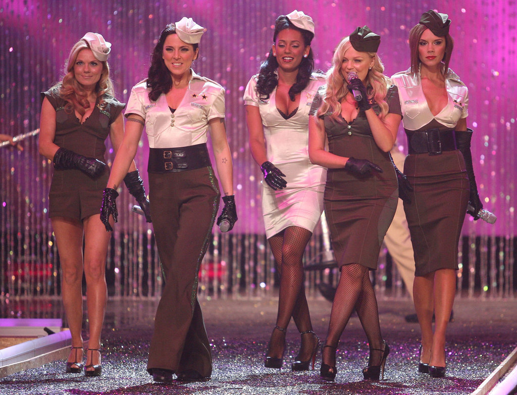 The Spice Girls showed of sexy military-inspired outfits for their performance at the Victoria's Secret Fashion Show in 2007.