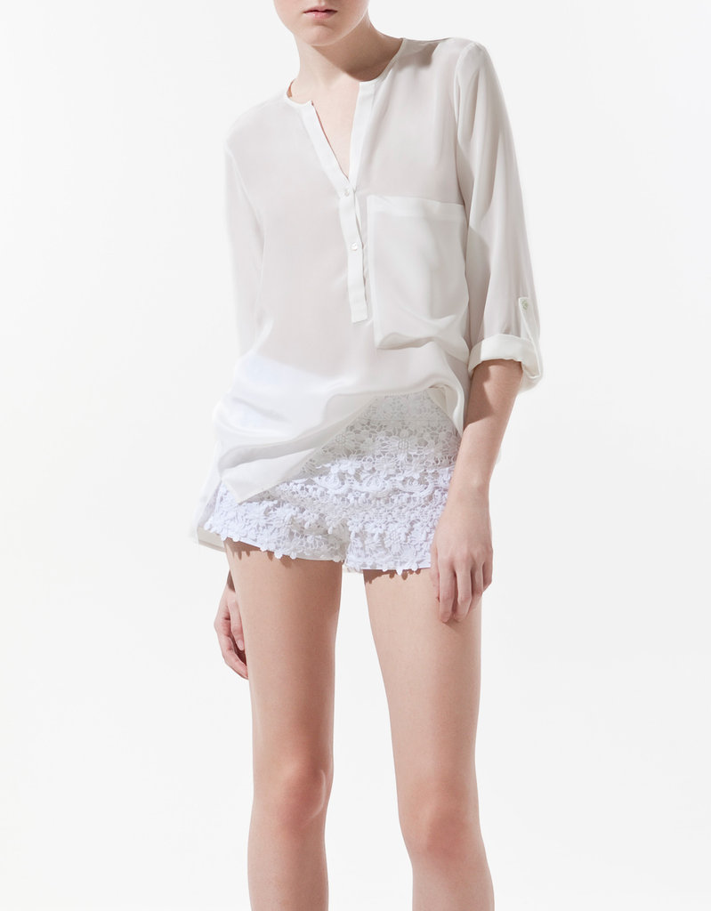 Zara Must-Have Item: Silk Shirt With Pocket ($80)