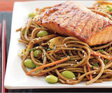 Grilled Salmon Over Soba