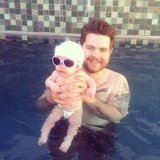 Jack Osbourne splashed around in the pool with his baby daughter, Pearl. Source: Twitter user MrJackO