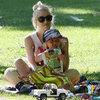 Gwen Stefani Plays at the Park With Sons Zuma and Kingston