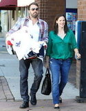 Ben Affleck and Jennifer Garner took baby Samuel to the post office.