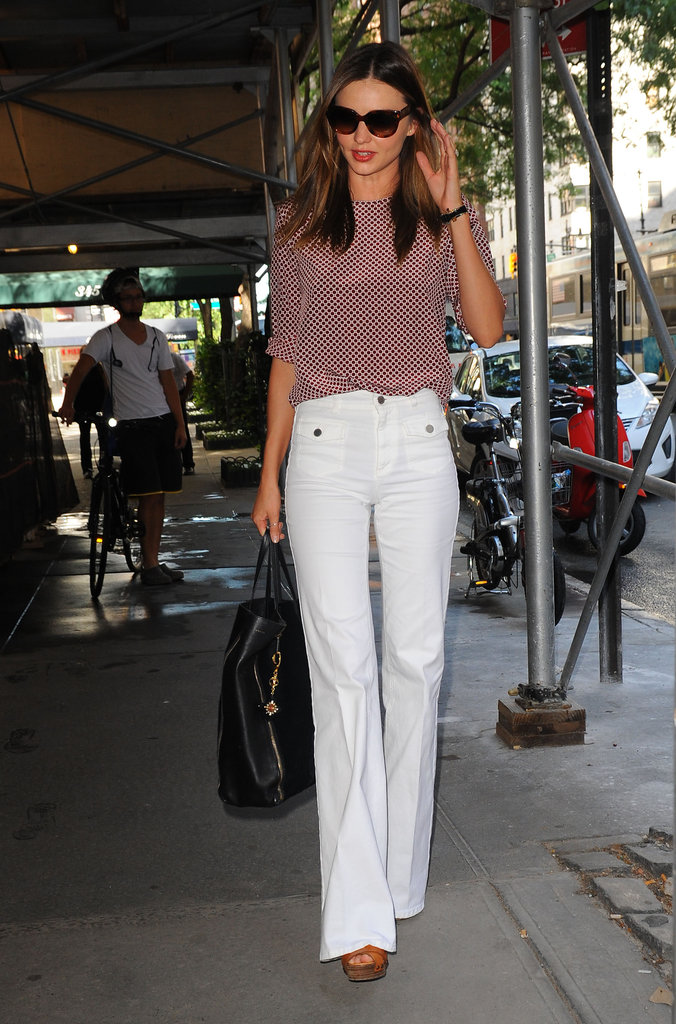 Miranda Kerr waved in NYC.