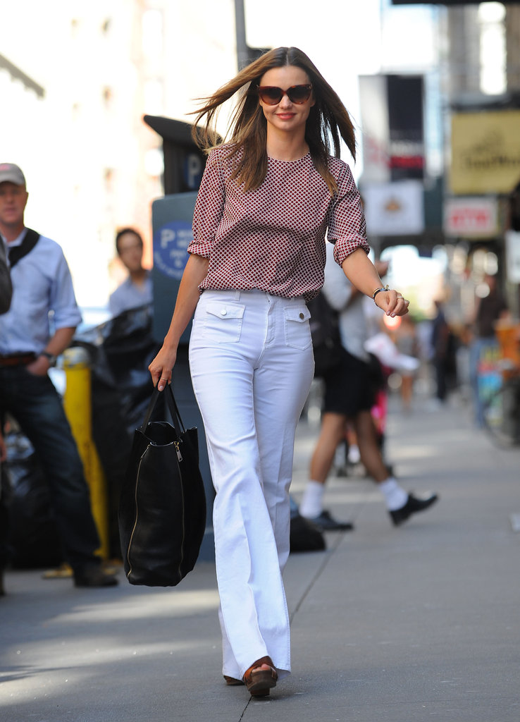 Miranda Kerr smiled on the streets of NYC.